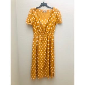 English Factory Yellow Polka Dot Dress